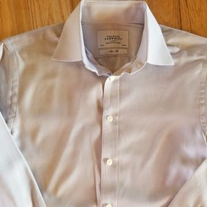 Charles Trywhitt Dress Shirt 15/34, Slim Fit